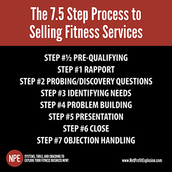 The 7.5 Step Process to Selling Fitness Services