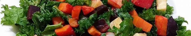Salmon and Green Veggies Salad