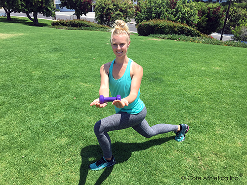 Lunge with Core Twist 1