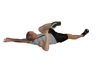 Band Hip Rotation Stretch