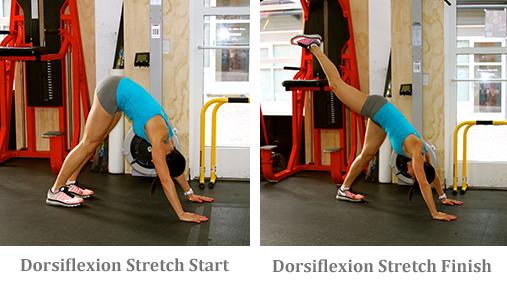 Dorsiflexion Stretch start and finish
