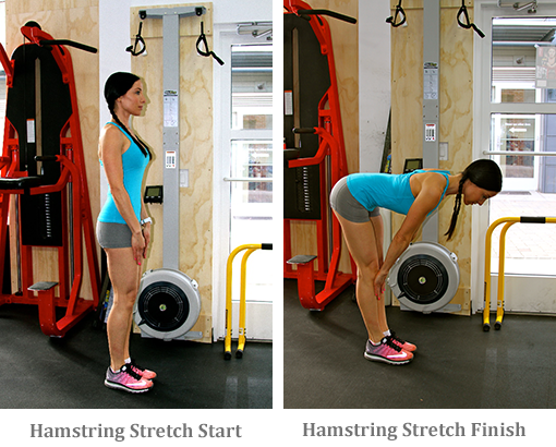 Hamstring Stretch start and finish