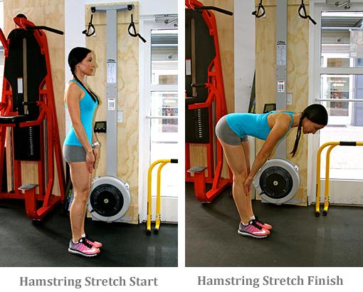 Hamstring Stretch start and finish