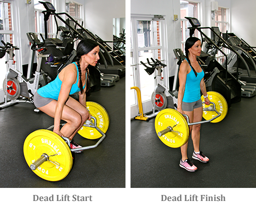 Dead Lift start and finish