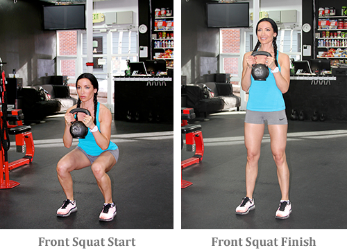 Front Squat start and finish