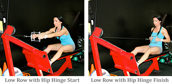 Low Row with Hip Hinge start and finish