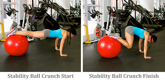 Stability Bar Crunch start and finish